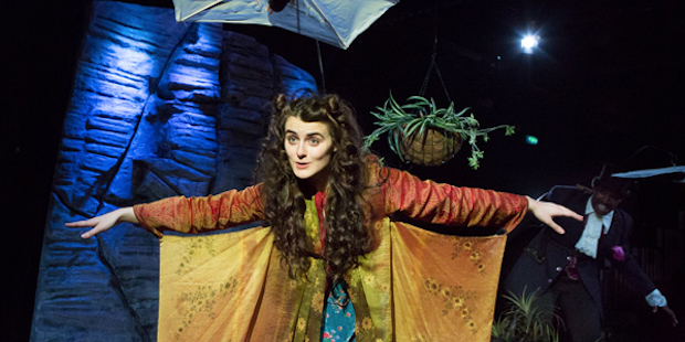 Sophie Reid in the recent Eastern Angles production of The Brontes of Dunwich Heath (and Cliff)